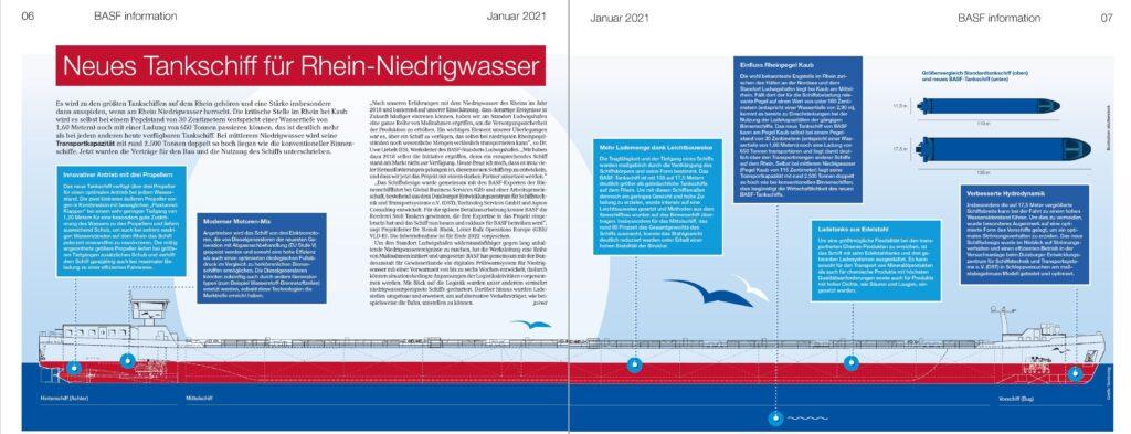 Auszug aus: BASF Information, Zeitung für Mitarbeiter der BASF SE, Ausgabe Januar 2021